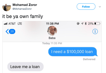This dad cleverly dragged his son after he asked for a loan: