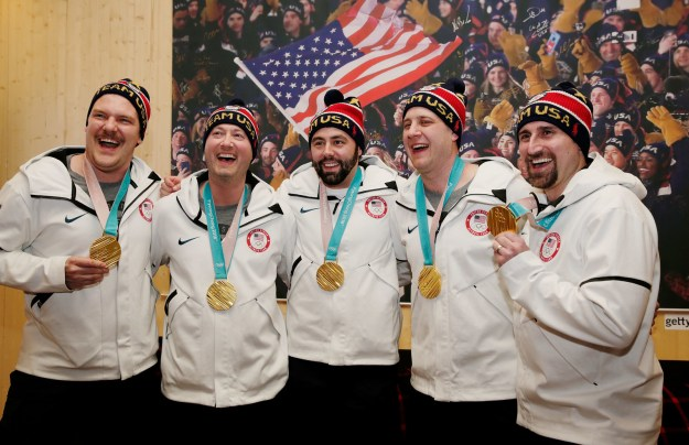Remember how, many moons ago, the US men's curling team brought home its FIRST EVER GOLD MEDAL?! Well, now Twitter has reminded us about them...