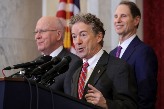 Republican Sen. Rand Paul of Kentucky was joined by Democratic Sens. Patrick Leahy of Vermont and Ron Wyden of Oregon in pressing last month for reforms of FISA.