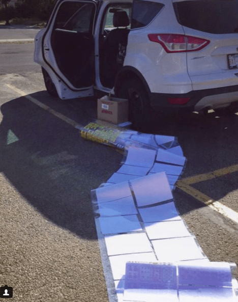 This teacher almost made it to their car without dropping everything: