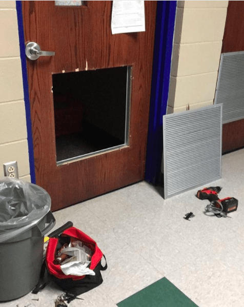 This teacher locked their keys in the classroom but found a way to get in:
