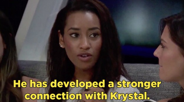 But no one was very hopeful. Arie has seemed totally into Krystal all season, despite the fact that she is a big ol' villain.