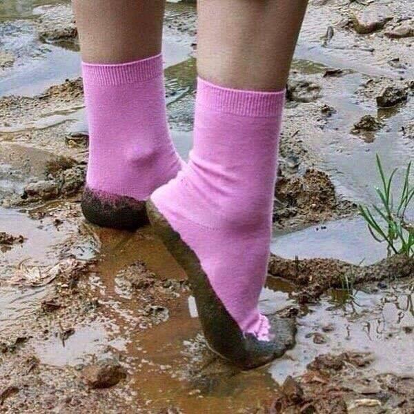 Wie ist es zum Beispiel mit dem Gedanken, diese Socken tragen zu müssen?