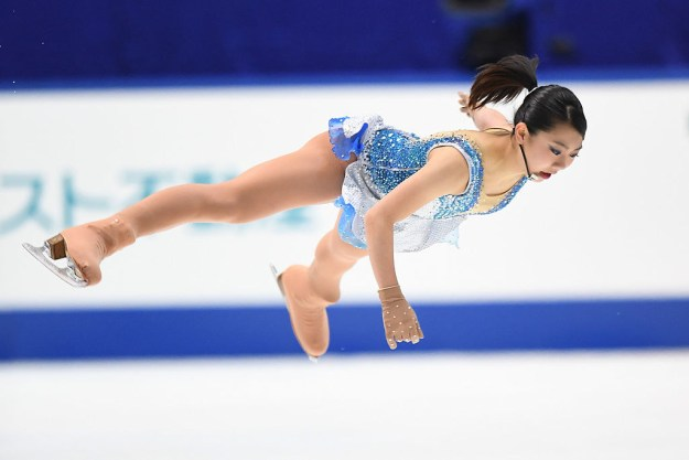 This. THIS. She could literally BELLYFLOP on ICE.