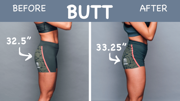 When it came time for the before and after photos, Brenda saw a major change, and was delighted to discover she had a bigger butt.