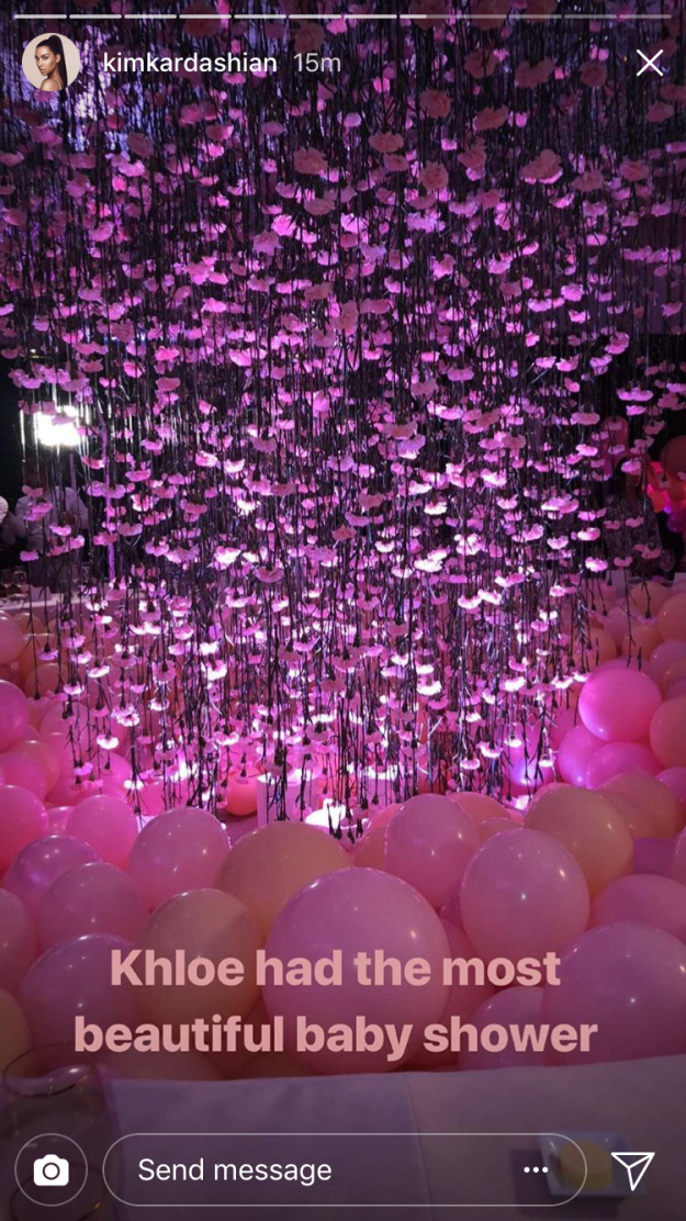 And above the ball pit, there was a massive, gorgeous centerpiece of hanging flowers.
