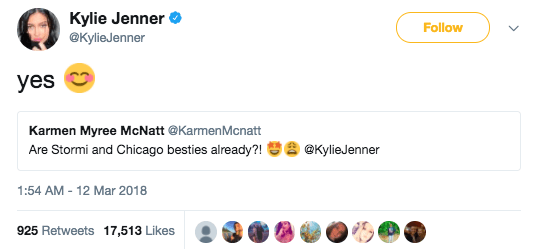 And yes, Stormi and Kim's daughter Chicago are besties already: