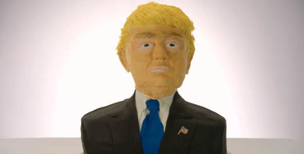 Well, in the finale of the six-episode season, the bakers had to make a replica of Donald Trump's face out of cake.