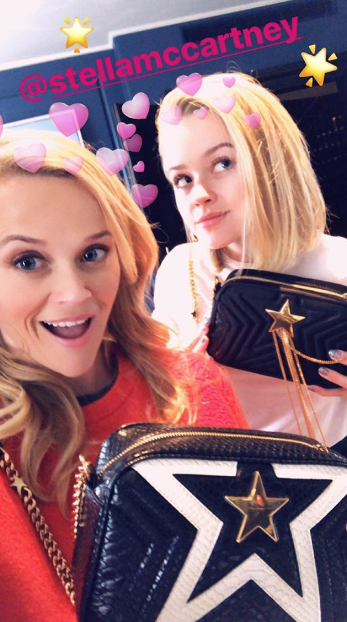 Today, ahead of the film's London premiere, Reese shared some gifts from Stella McCartney on Instagram. And it looked like Ava was sporting a new choppy haircut — but it was kinda hard to be 100% sure because of the angle.