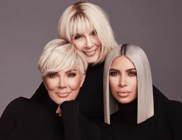 The campaign also shows Kim posing alongside her grandmother, M.J., and everyone's favorite momager, Kris. I honestly haven't seen a trio this iconic since Destiny's Child.