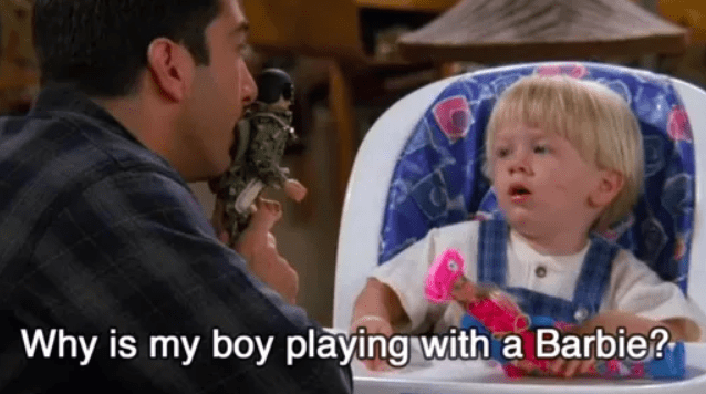 I love this show to death. But the episode where Ben was playing with a doll and Ross was so upset by it bugged me so much. Let the kid play and be a kid without your fragile masculinity ruining his fun.– chriss4635115ea