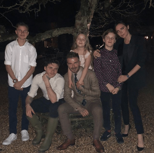The Beckhams showed off their really good family genes.