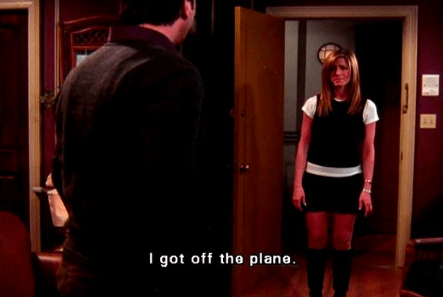 For ten seasons, Rachel had this wonderful arc as she grew from spoiled rich brat to an independent, self-actualised woman with a great career. Then at the last moment, she sacrifices that career for World Champion D-Bag NiceGuy™ Ross. In my head canon. Rachel never got off the plane and eventually became CEO of LVMH.Buttmuffin