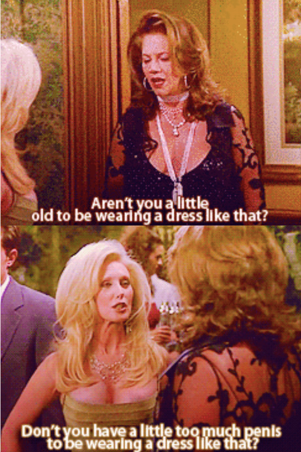 """The whole """"Chandler's dad is a drag queen"""" thing. While the addition of an out and proud gay character was a huge step forward in television, they totally mis-represented the community. For almost 20 years, my mom thought that trans women and drag queens were the same thing because of this. – ashleyp1002Chandler's homophobia and jokes about his transgender parent were awful. While they did address it later on by reuniting them, the character was played by Kathleen Turner! The show also conflated transgender people and drag queens. In trying to expose and dismantle some prejudices, they also perpetuated others. – jennyb27"""