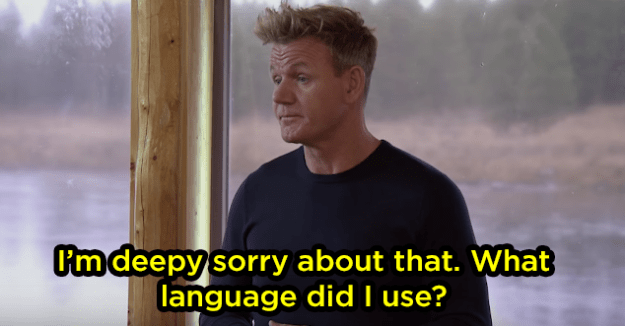 Gordon responded sarcastically, of course, and then asked why he felt that way: