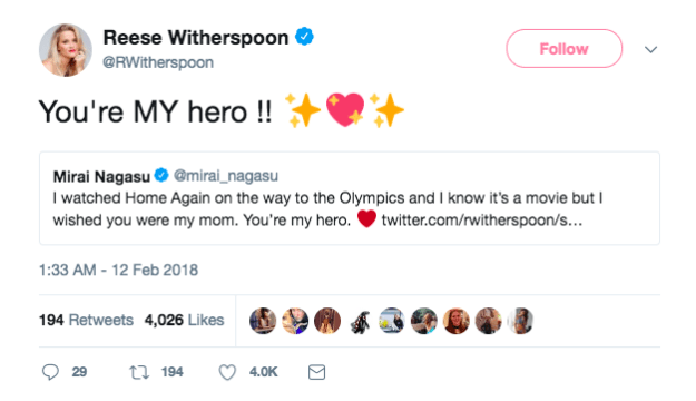 When she was everyone's supportive mom during the Olympics...