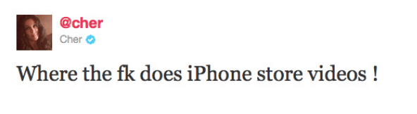 Does she know where the iPhone stores videos?