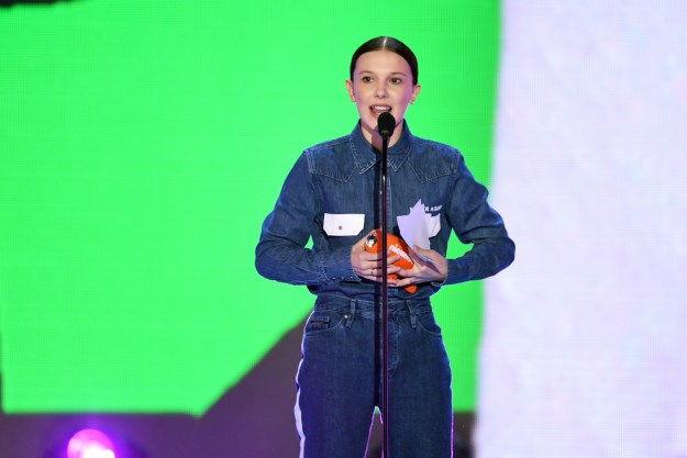 Stranger Things star Millie Bobby Brown had a big night at the 2018 Kids' Choice Awards over the weekend, where she took home the award for Favorite TV Actress...