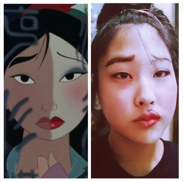 This girl, whose resemblance to Mulan is uncanny: