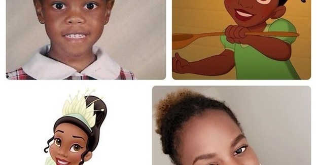 This girl, who definitely resembles Princess Tiana: