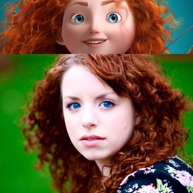 And this girl, who is so Merida it hurts: