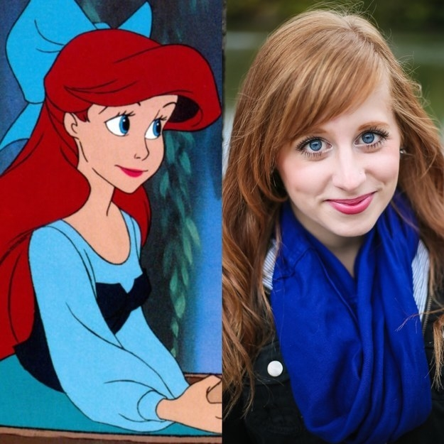 And if this girl doesn't look exactly like Ariel, then I dunno what...