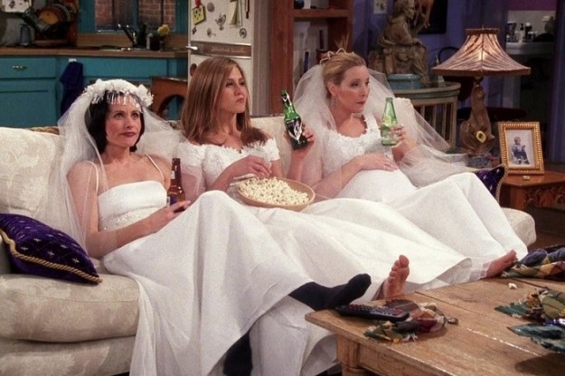 "So you remember Season 4 and the episode ""The One With the Wedding Dresses"", right? It gave us this iconic image."