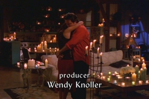 Let me just remind you that when Chandler and Monica get engaged, THERE ARE CANDLES EVERYWHERE FOR THEIR BIG DATE!!!!!!!!!!!!