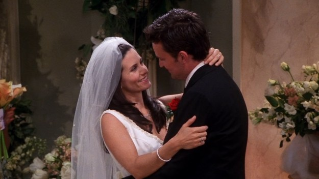 You'll probably remember that Chandler and Monica actually got married, so this is the cutest foreshadowing ever. BUT THAT'S NOT ALL.