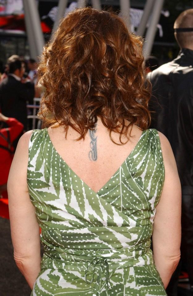 Susan Sarandon's spinal tat.