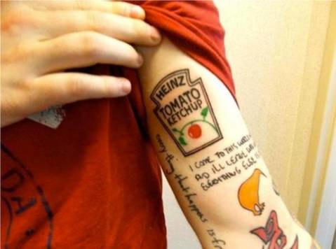 And Ed Sheeran's ketchup tat.