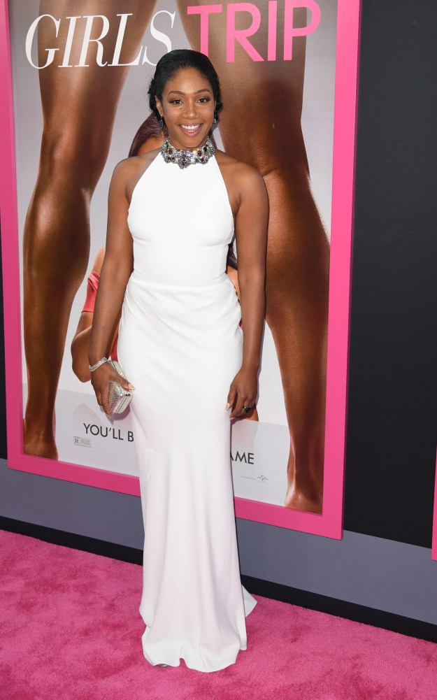 On July 13th, 2017. Tiffany Haddish introduced us to ~the dress~. This dress. It's white, has jewels around the neck, and looks really damn good on her.