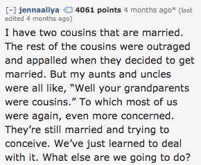The curious case of the cousins: