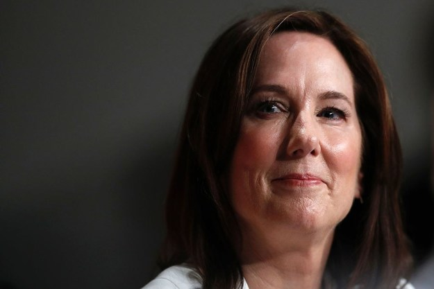 This is Kathleen Kennedy and she has produced over 60 films, which have collectively received 120 Academy Award nominations with 25 wins.
