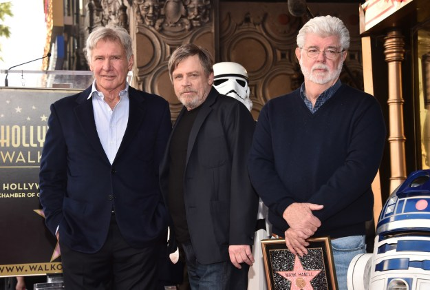 ....and Han Solo himself, Harrison Ford, as well as the man who created this all, George Lucas.