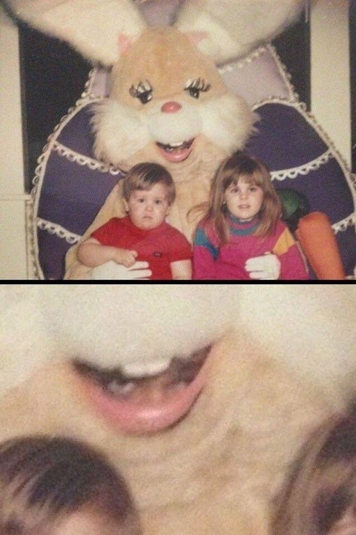 These siblings who were forced to meet a slightly demonic bunny.