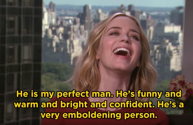 "When Emily discussed why John is her ""perfect man"" and it was utterly adorable:"