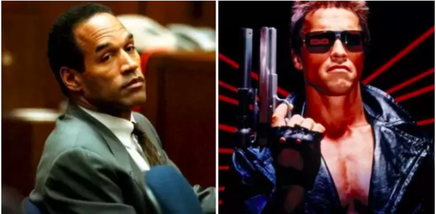 """O.J. Simpson was almost cast as the Terminator, but James Cameron thought he was """"too pleasant"""" to portray a dark character."""