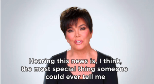 As a result, people were overjoyed for her when she announced she was pregnant. Kris Jenner's reaction to the news pretty much said it all.