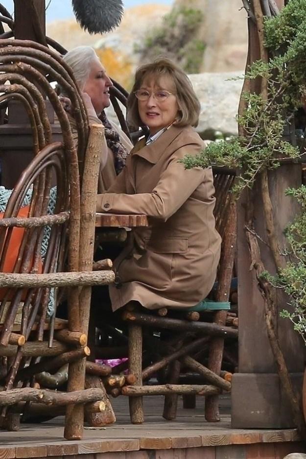 What is Meryl Streep looking at?