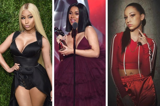 Two of the nominees, Nicki Minaj and Cardi B, seemed pretty obvious, but surprisingly to some, Bhad Bhabie scored the third nomination.