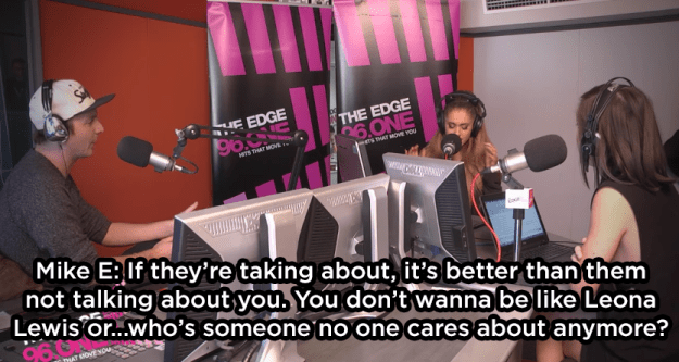 When she called out another radio host for dissing Leona Lewis: