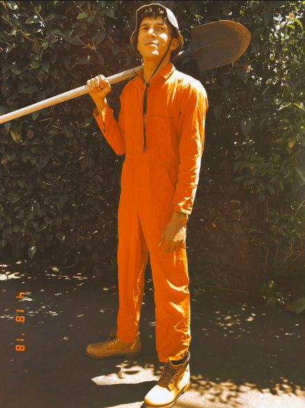 That's right, not only did the 29-year-old actor and rapper show fans that he kept the orange coveralls from the film, BUT he also put it on to prove that the outfit still fits!