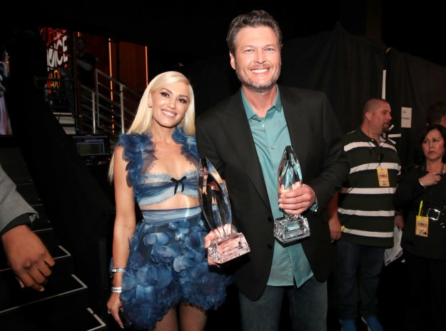 This is Gwen Stefani and Blake Shelton. I'm sure you already know that, but I'm just making sure.