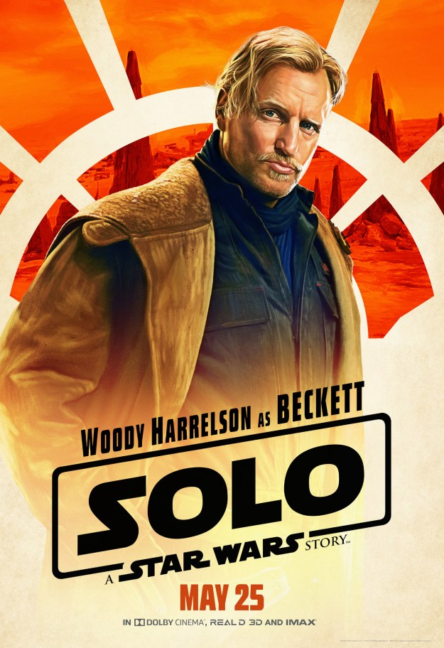 Beckett (Woody Harrelson), Han Solo's mentor, clearly taught Han his signature smoulder-smirk.