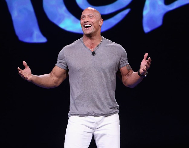 """Hi. Hello there. Hey. I'm here to talk to you about your favorite Rock, Dwayne """"The Rock"""" Johnson."""