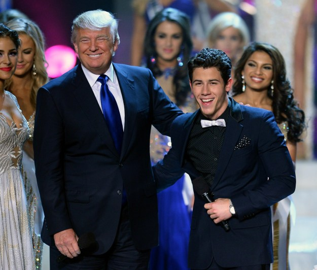 Nick Jonas posed with Donald Trump at the Miss USA pageant.
