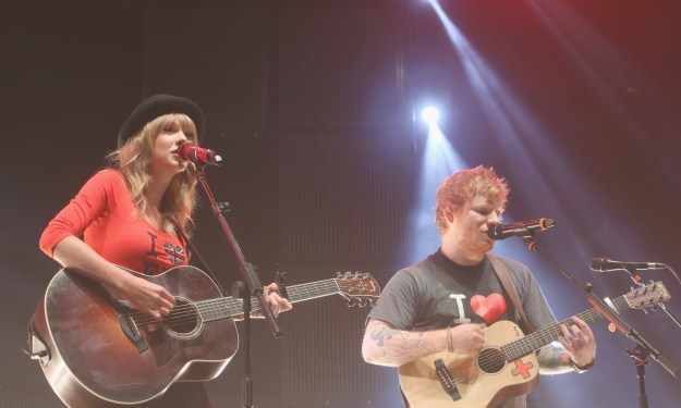 Taylor ALSO brought an up-and-coming artist by the name of Ed Sheeran on her Red Tour.