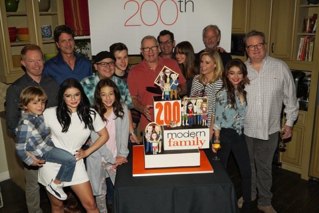 And here's the cast and crew at the 200th episode party in November of 2017.