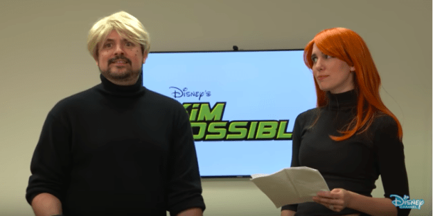 But, what's happening with the original stars, you ask??? WELL! Kim Possible herself, aka Christy Carlson Romano reunited with Ron Stoppable aka Will Friedle and JUST LOOK AT THEM! IN COSTUME!!!